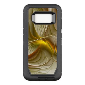 Colors of Precious Metals, Abstract Fractal Art OtterBox Defender Samsung Galaxy S8 Case