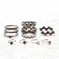 Rhinestone Midi Ring Set