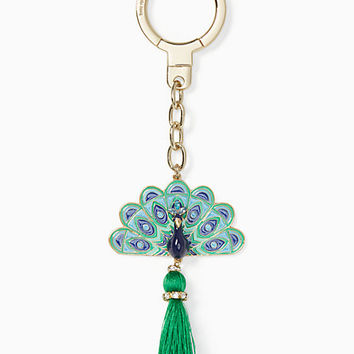 jeweled peacock keychain