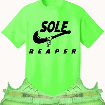 Adidas Yeezy 350 Boost Glow Volt Sneaker Tees Shirt to Match - SOLE REAPER