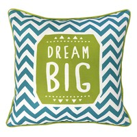 Colordrift ''Dream Big'' Throw Pillow (Blue)