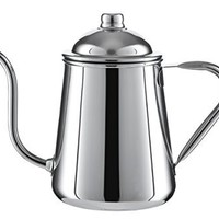 Pour Over Drip Kettle - High Quality Stainless Steel With Precision Gooseneck spout for amazing water flow control. Ideal for pour over coffee and tea - 0.9L capacity