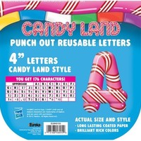Eureka Candy Land Pepper Stripes Deco Letters (845155)