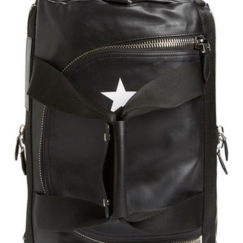 'Star' Convertible Leather Backpack/Duffel
