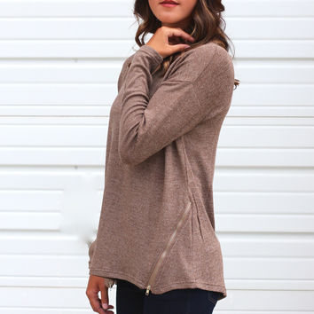 Zip-A-Dee-Do-Dah Sweater {Coffee}