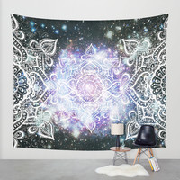Celestial Mandala Wall Tapestry by Jenndalyn