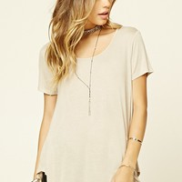 Longline Scoop Neck Tee