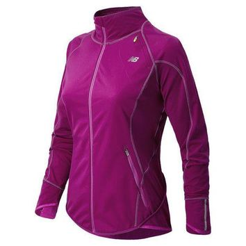 DCCK1IN new balance windblocker fleece lined running jacket women s size