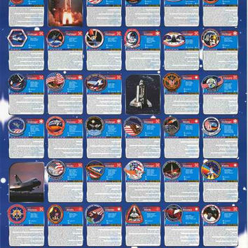 NASA Space Shuttle Missions 1981-1990 Poster 27x39