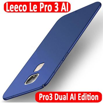 Luxury Ultra Thin Hard Case for LeTV LeEco Le Pro 3 Pro3 Dual Cameras AI Version X650 X651 Slim Phone Shell Back Cover