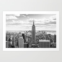 New York Skyline Art Print by KARNATARKA