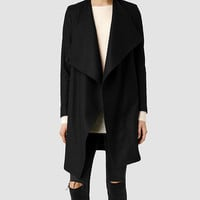 Womens Ora Coat (Black) | ALLSAINTS.com
