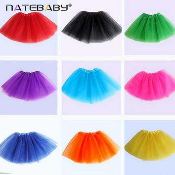 DQ  14 Colors Available Sweetheart Wear Baby Girls Tutu Skirts Chiffon Baby Ballerina Skirt  Christmas Gift Candy Color NH0967