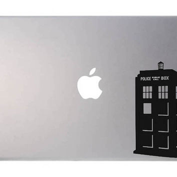 Doctor Who Tardis laptop decal, Macbook, Apple, cool sticker