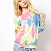 River Island Tie Dye Sweatshirt at asos.com