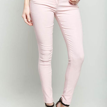 Solid Ankle Pants Pink
