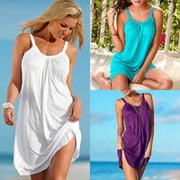 Sexy Women Summer Casual Holiday Brief Evening Party Short Beach Wear Mini Dress