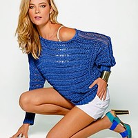 Blue (BL) Loose Fitting Sweater