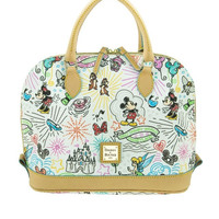 Disney Parks Disney Characters Sketch Satchel Bag by Dooney & Bourke New with Tag