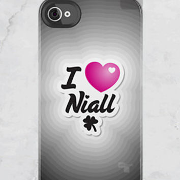 iPhone 4S/4 - I Heart Niall - One Direction - (iPhone Case iPhone 4 Case, iPhone 4 cover, Hard Fitted Case iPhone 4S, Apple iPhone 4 Case)