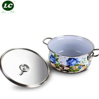 Casserole Pot Cooktops Enamel Pot Cooking Pot Multi-layer Wok Stovetop Induction Kitchen Utensil