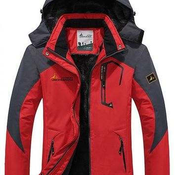 Wantdo Women's Waterproof Mountain Jacket Fleece Windproof Ski Jacket(US XS)