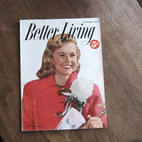 October 1952 Better Living Magazine; Atomic Products/Food/Lifestyle/Anthropomorphic Ads; U.S. Shipping Included