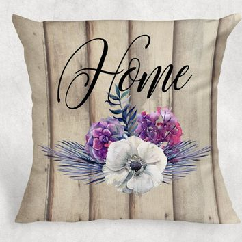 Custom Pillow - Wedding Gift - Floral Throw Pillow - Farmhouse Decor - Anniversary Gift - Personalized Pillow - Rustic Throw Pillow Cover