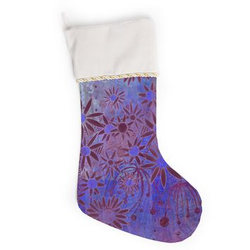 "Marianna Tankelevich ""Purple Night"" Purple Blue Christmas Stocking"