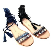 Vintage-Havana 'Candice' Women's Leather Design Sandals