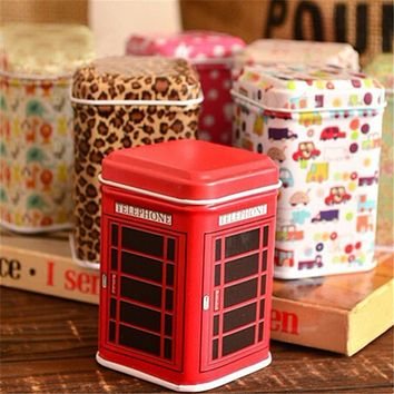 Useful Tea Box Mini Coffee Box Cute Storage Tin Box Storage Case Can Color Random