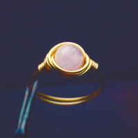 Light Amethyst ring - unique rings - bohemian jewelry - wire wrapped ring