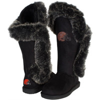 Cleveland Browns Cuce Shoes Women's Victorious Boots - Black