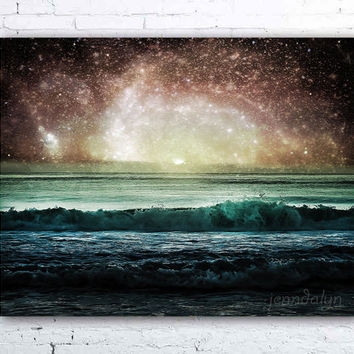 Event Horizon - fine art photograph, surreal ocean photography, spiral galaxy, sci fi print, surreal landscape photography, universe print