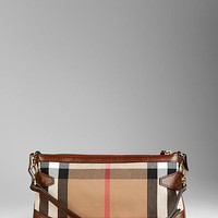 House Check Buckle Detail Clutch Bag