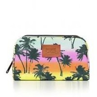 Pink By Victoria's Secret Tropical Palm Tree Makeup Cosmetic Bag