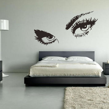Wall Vinyl Decor Art Sticker Decals Mural Eye Girl's Eye (z011)