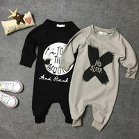2016 Newborn Baby Clothes Babyworks One Pieces Baby Romper Infant Boys Girls Long Sleeve Jumpsuits Clothing Baby Rompers