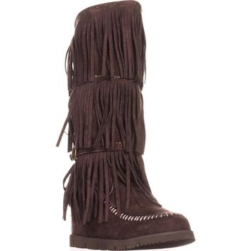 Dolce by Mojo Moxy Crossbow Slouch Boots, Espresso, 9 US