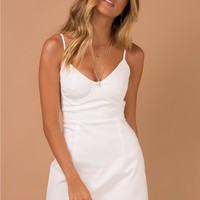 Novella Mini Dress White | Princess Polly Australia