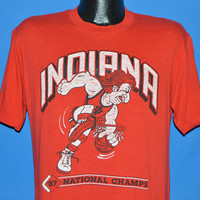 80s Indiana Hoosiers 1987 NCAA Champions t-shirt Large