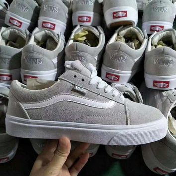 VONEO5 Originals Vans OLD SKOOL PRO Classic Gray White Sneaker Casual Shoes