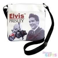 Licensed Elvis Presley Motorcycle Messenger Bag