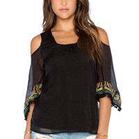 VAVA by Joy Han Shirley Open Shoulder Top in Black