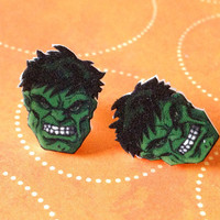Avengers Hulk Earrings