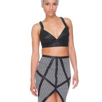 SUGAR AND VICE PENCIL SKIRT