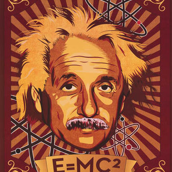 Albert Einstein Pop Art Poster 24x36