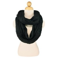 Amazon.com: Premium Winter Thick Infinity Twist Cable Knit Scarf, Black: Clothing