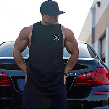 Gyms Clothing Fitness singlets Men Tank Tops Bodybuilding Stringers Tank tops workout golds Sporting Sleeveless Shirt