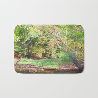 Hickory Ridge Pond Bath Mat by Theresa Campbell D'August Art